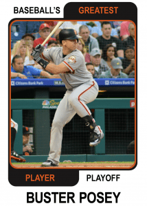 Buster-Posey-Card Baseballs Greatest Player Playoff Card
