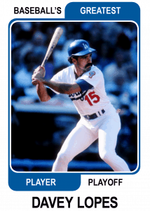 Davey-Lopes-Card Baseballs Greatest Player Playoff Card