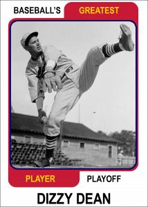 Dizzy-Dean-Card Baseballs Greatest Player Playoff
