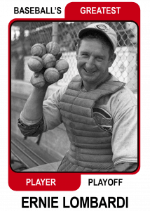 Ernie-Lombardi-Card Baseballs Greatest Player Playoff Card