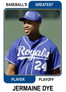 Jermaine-Dye-Card Baseballs Greatest Player Playoff Card