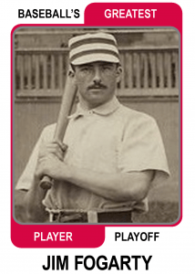 Jim-Fogarty-Card Baseballs Greatest Player Playoff