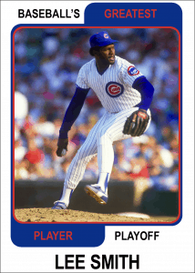 Lee-Smith-Card Baseballs Greatest Player Playoff