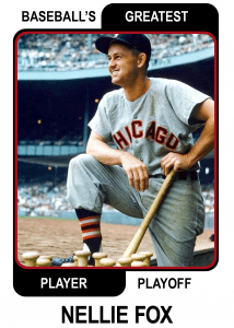 Nellie-Fox-Card Baseballs Greatest Player Playoff Card