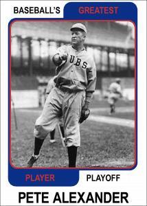Pete-Alexander-Card Baseballs Greatest Player Playoff