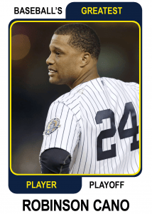 Robinson-Cano-Card Baseballs Greatest Player Playoff Card