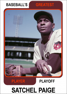 Satchel-Paige-Card Baseballs Greatest Player Playoff