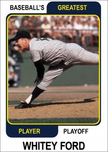 Whitey-Ford-Card Baseballs Greatest Player Playoff