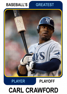 Carl-Crawford-Card Baseballs Greatest Player Playoff