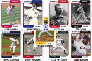 Round Three Pitchers Baseball's Greatest Player Playoff