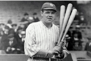 babe ruth and bats