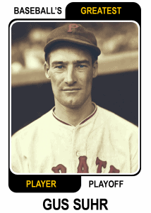 Gus-Suhr-Card Baseballs Greatest Player Playoff Card