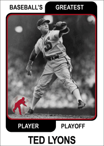 Ted-Lyons-Card Baseballs Greatest Player Playoff Card