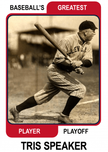 Tris-Speaker-Card Baseballs Greatest Player Playoff Card