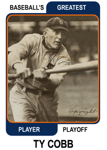 Ty-Cobb-Card Baseballs Greatest Player Playoff Card