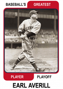 Earl-Averill-Card Baseballs Greatest Player Playoff Card