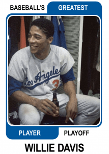 Willie-Davis-Card Baseballs Greatest Player Playoff Card