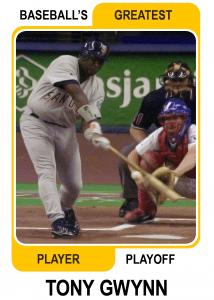Tony-Gwynn-Card Baseballs Greatest Player Playoff Card