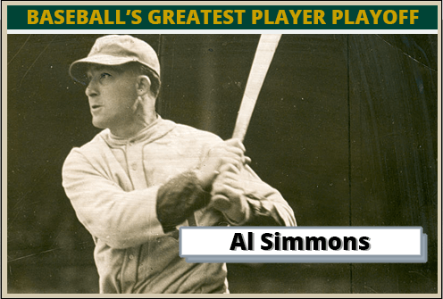 Al Simmons Featured Card baseball's greatest player playoff