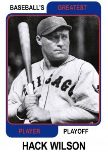 Hack-Wilson-Card baseball's greatest player playoff