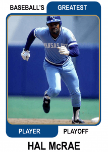 Hal-McRae-Card Baseballs Greatest Player Playoff