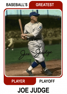 Joe Judge-Card Baseballs Greatest Player Playoff Card