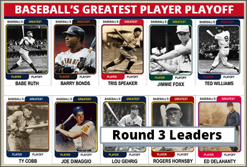 Round 3 Leaders-Featured-Card Baseballs Greatest Player Playoff