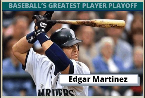 Edgar Martinez-Featured-Card Baseballs Greatest Player Playoff