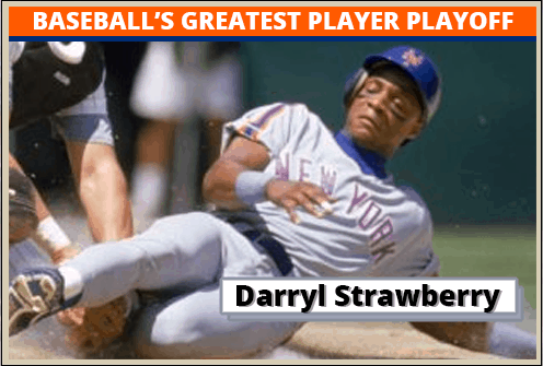 Darryl Strawberry Featured-Card Baseballs Greatest Player Playoff