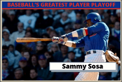Sammy Sosa Featured-Card Baseballs Greatest Player Playoff